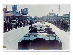 TRAGIC ENDING photo | John F. Kennedy - Powers took this photo of Jack and Jackie in the Dallas motorcade on Nov.22, 1963.  Powers was in the car directly behind the President's that day.
