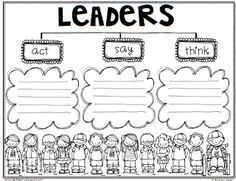 """Free """"Leaders ARE CAN HAVE"""" """"Leaders SAY ACT THINK"""" Tree Maps by Jen Jones-Hello Literacy"""