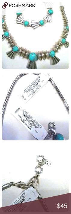 Lucky brand necklace only!!!! Limited time sale!!! Brand new with tag lucky brand necklace! Necklace with turquoise accent. Very beautiful! Make an offer Negotiations welcome!!! Bracelet sold seperately! Lucky Brand Jewelry Necklaces