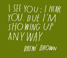 Brene Brown quote - by Lisa Congdon