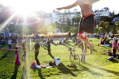 Never a dull moment in Dolores Park, San Francisco, CA.