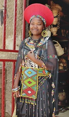 Lady in Johannesburg, South Africa. Zulu, judging by her headdress