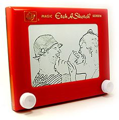 Turn an Etch-a-Sketch into a Kitschy Picture Frame in Just a Few Minutes!