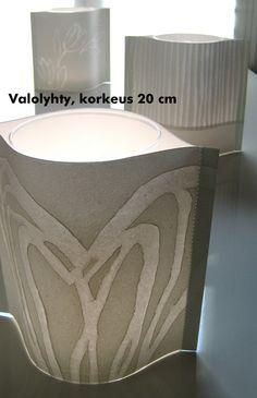 Lantern 20 cm, handmade paper, beautiful patterns. www.paperivalo.fi