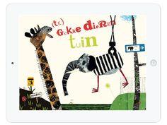 """Die Kinder App """"te gekke dierentuin"""" ist ein interaktiver Zoo zum selber gestalten. Hier ist Kreativität gefragt: Zuerst bastelt man sich aus verschiedenen Tierkörperteilen sein eigenes Phantasie-Tier."""