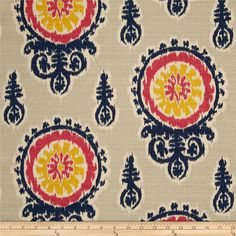 Premier Prints Michelle Nina Navy/Pink/Birch. $8.99 p/yd.   Maybe use for headboard of master bed.