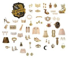 """""""hufflepuff aesthetic collage"""" by moonblossmbabyprincess ❤ liked on Polyvore featuring IaM by Ileana Makri, Chanel, Melissa, Forever 21, Palm Beach Jewelry, Pamela Love, Christian Dior, Masquerade, Paul Morelli and Chloé"""