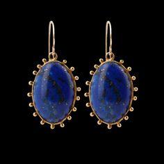 VICTORIAN LAPIS EARRINGS Lapis Lazuli Jewelry, Gemstone Jewelry, Jewellery Earrings, Gold Earrings, Victorian Jewelry, Antique Jewelry, Vintage Jewelry, Jewelry Tattoo, Artisan Jewelry