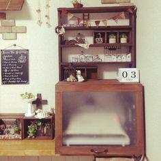 DIY棚/角材リメイク/セリアの雑貨/3コインズのカレンダー/ナチュキチ雑貨…などのインテリア実例 - 2015-04-03 20:03:47   RoomClip(ルームクリップ)
