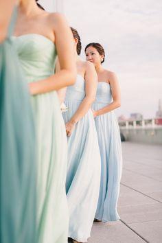 Teal, Mint Green, Light Blue / New York Wedding / Judy Pak Photography boards.styleunveiled.com