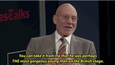 When Sir Patrick described Sir Ian's early days on the British stage: |Click thru for more of this fabulous interview