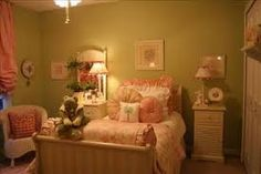vintage girls bedroom - Google Search