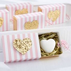 These fresh scented soaps featuring tiny foot prints are sure to be a big hit at your baby shower!