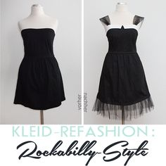 Kleid-Refashion im Rockabilly Stil