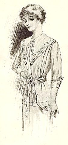 1911 Fashion Illustration The Delineator Lightweight Dress