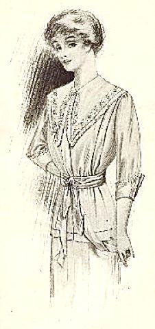 1911 Fashion Illustration The Delineator Lightweight Dress