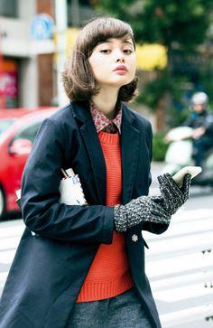 sweater+coat+gloves