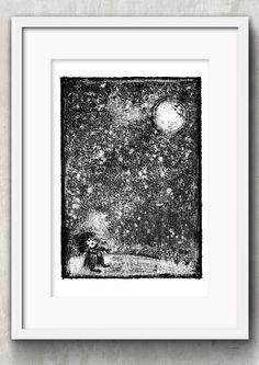 created by Konik Art Studio P.Kleszczewski konikstudio.jimdo.com  #etsy #konikartstudio #artprint #blackandwhiteprints #folklore #fairytales #printmaking #print #graphicartist #mythology #craft Black And White Prints, Fairytale Art, Folklore, Printmaking, Mythology, Fairy Tales, Art Prints, Studio, Unique Jewelry