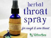 Herbal Throat Spray for cough and sore throat
