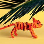 how-to pipe cleaner creatures from Martha Stewart: Chameleons, Tigers, Squirrels, Monkeys