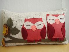 owl pillow...for a baby girl's room
