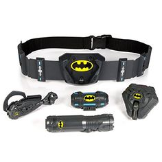 The Ultimate Utility Belt Bundle includes 4 micro-accessories: 1 Utility Belt, 1 Batman Listener, 1 Batman Distractor, 1 Batman Tactical Light! The Batman Ultimate Utility Belt also comes with a detachable Motion Alarm on the belt buckle for added securit
