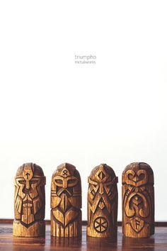 Wooden figurine Perun. Hand-carved wooden statue от Triumpho