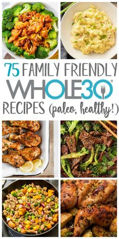 Finding family friendly recipes your whole family will eat can be a struggle. Even finding healthy, real food recipes that are family friendly when you're not on a can be tough. Having some easy weeknight dinners or recipes that are both W Whole 30 Meal Plan, Whole 30 Diet, Paleo Whole 30, Whole Foods, Whole 30 Meals, Whole 30 Drinks, Whole 30 Lunch, Whole Food Diet, No Processed Food Diet