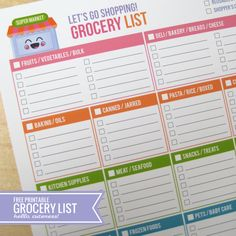 Big List of Printable Grocery Shopping Lists - Hello Cuteness