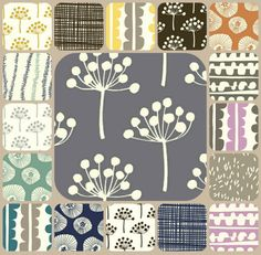 Lotta Jansdotter's fresh modern Echo Collection on Contemporary Cloth #contemporarycloth #fabric