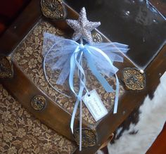 Blue Will You Be My Godmother Wand by paulawellsstudio on Etsy