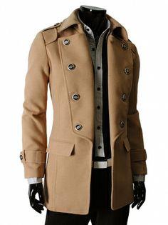 Palton Barbatesc Antonio Gatti Casual Business Man Bej- - Paltoane, Imbracaminte Barbati