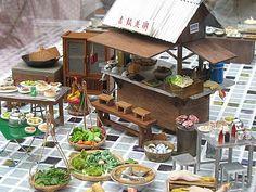 Hong Kong Miniatures - street stall