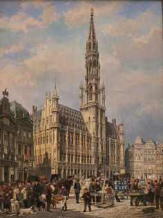 The Flower Market in the Grande Place, Brussels, 1886