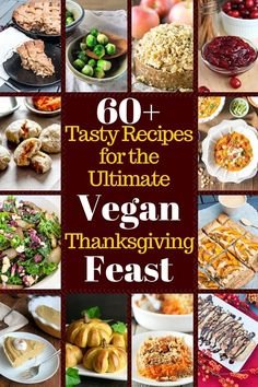 Lots of vegan thanksgiving recipes that make a meatless holiday easy. Healthy, dairy-free, delicious recipes! Gluten-free thanksgiving recipes are marked.