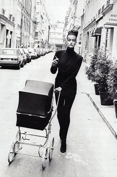 Tatjana Patitz by Peter Lindbergh for Vogue Paris August 1985
