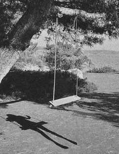 I saw my daughters shadow on the swing, but that's not what creep me out. What was creepy that she died a year ago.
