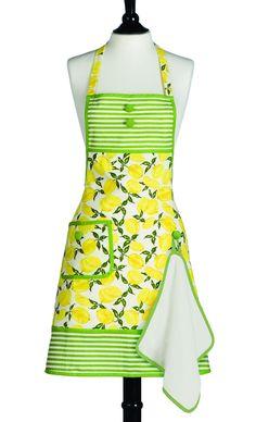 Bib Gigi Summer Lemons Apron... I especially love the little attached terry…