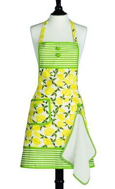 Lemons Apron @Kayla Long (Love the pattern. Especially the little button for the towel. But not so much the fabric. Haha.)