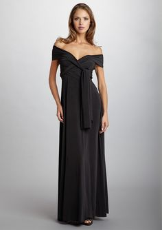the Shoulder version, this dress transforms into dozens of different styles! Multiway Bridesmaid Dress, Infinity Dress Bridesmaid, Bridesmaid Dress Styles, Infinity Dress Ways To Wear, Infinity Dress Styles, Infinity Dress Off Shoulder, Infinity Dress Tutorial, Transformer Dress, Multi Way Dress