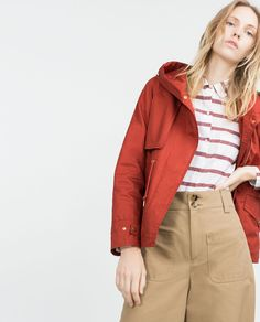 Image 2 of HOODED COTTON PARKA from Zara