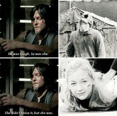 Daryl talking about Beth with Maggie Walking Dead Facts, Walking Dead Quotes, Walking Dead Tv Show, Walking Dead Series, Fear The Walking Dead, Glen And Maggie, Daryl Beth, Emily Kinney, Dead Inside
