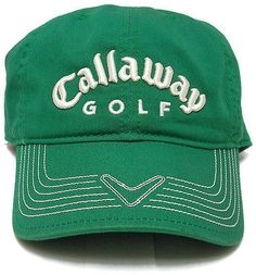 Callaway Golf Green C-Tech Hat Baseball Cap Adjustable Strap Embroidered Logo