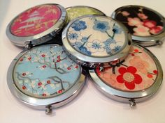 Compact Mirrors for the BRIDAL PARTY.  Custom made by Glassology, $15.00