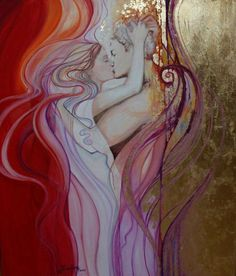 Love is composed of a single Soul inhabiting two Bodies ~ Aristotle ♥♥ Beautiful Artwork by Ines Honfi