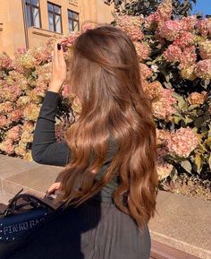 Pretty Hairstyles, Summer Hairstyles, Hair Inspo, Hair Inspiration, Ulzzang Hair, Blonde Hair Looks, Brown Hair With Caramel Highlights, Cute Girl Face, Corte Y Color