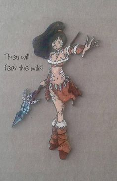 Nidalee - the Bestial Huntress - League of Legends Champion - Necklace - Earring - Brooch