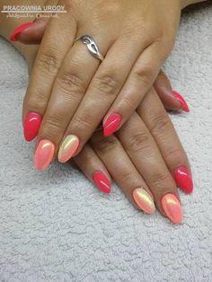Peach Nails, Orange Nails, Pink Nails, Pretty Nail Designs, Gel Nail Designs, Fabulous Nails, Gorgeous Nails, Cute Nails, Pretty Nails