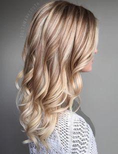 Blonde Hair With Brown Lowlights #BlondeHairstylesDark