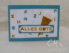 Caros Bastelbude Stampingirls Smart Saturday Challenge #47 Karte zum Schulanfang, Sans and Stripes, Stampin' Up!